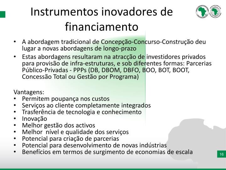 Instrumentos inovadores de financiamento