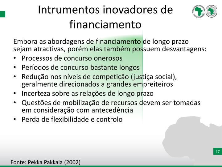 Intrumentos inovadores de financiamento