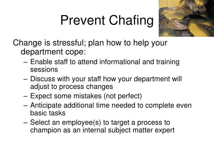 Prevent Chafing