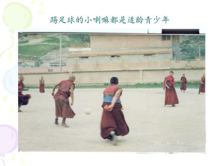 踢足球的小喇嘛都是适龄青少年