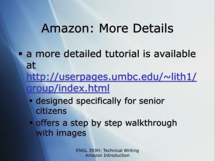Amazon: More Details