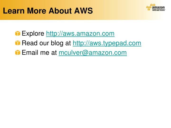 Learn More About AWS