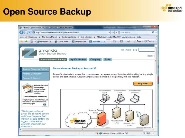 Open Source Backup