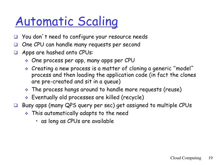 Automatic Scaling