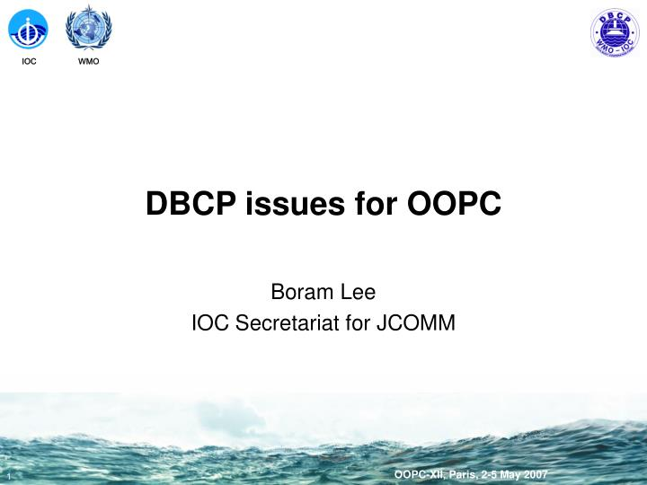 Dbcp issues for oopc