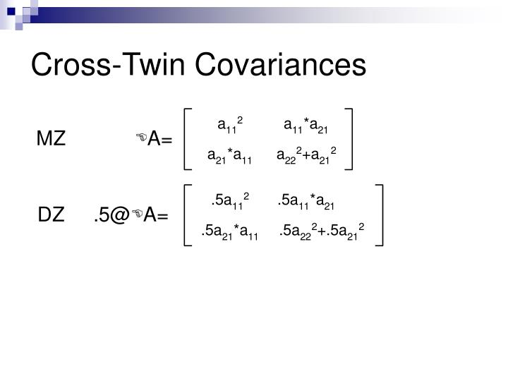 Cross-Twin Covariances