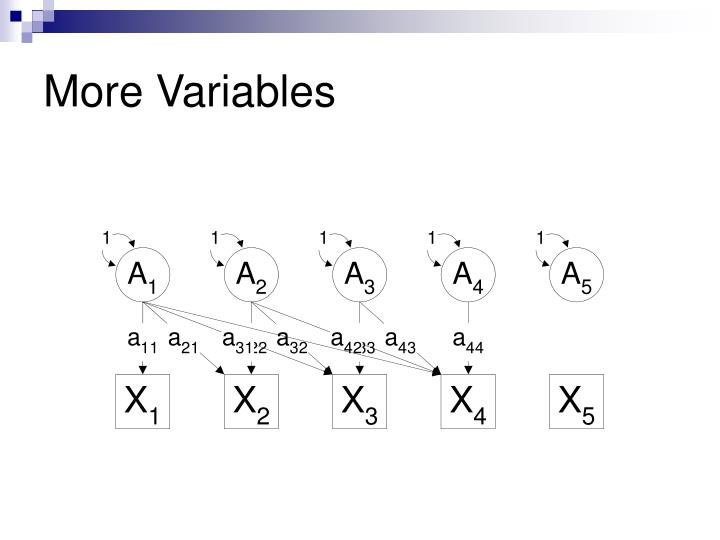 More Variables