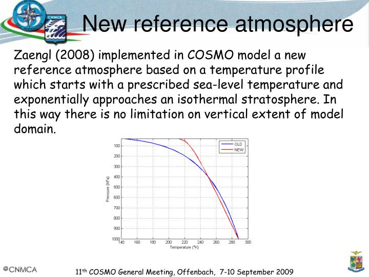 New reference atmosphere