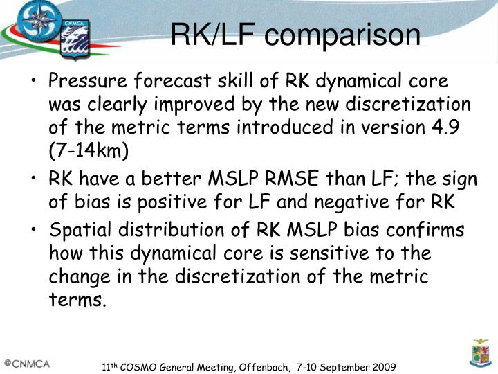 RK/LF comparison