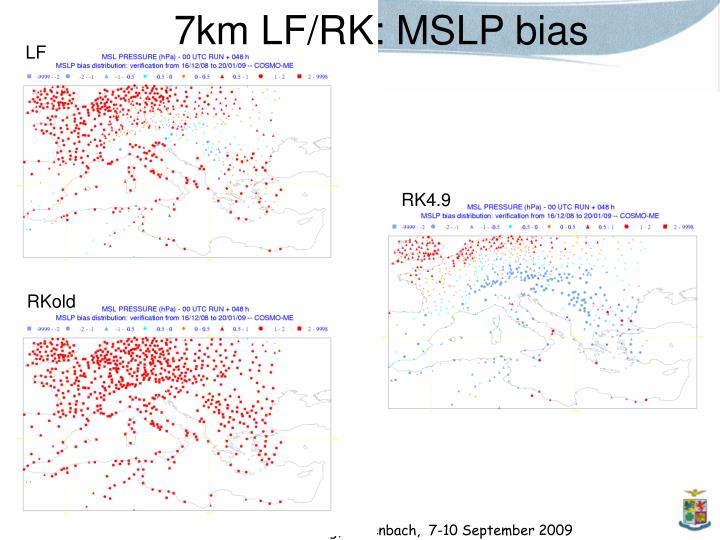 7km LF/RK: MSLP bias