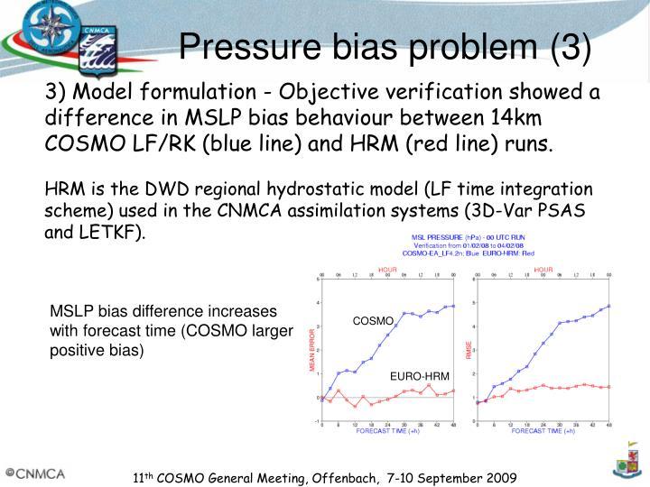 Pressure bias problem (3)