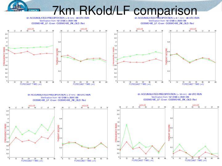 7km RKold/LF comparison