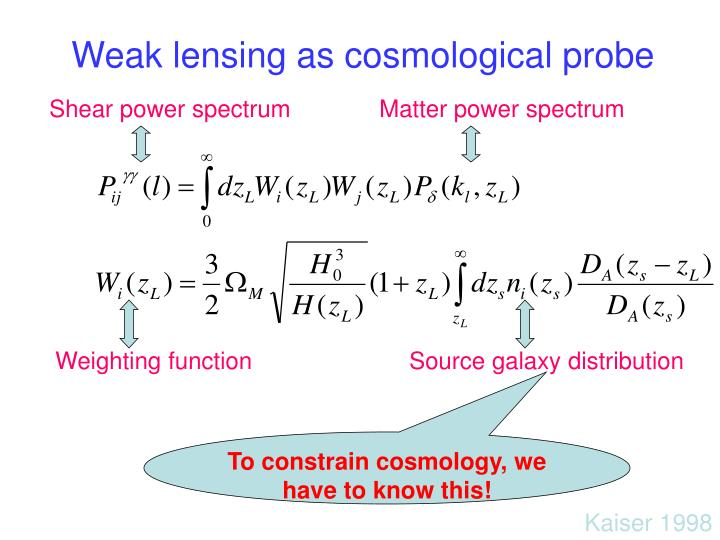 Weak lensing as cosmological probe