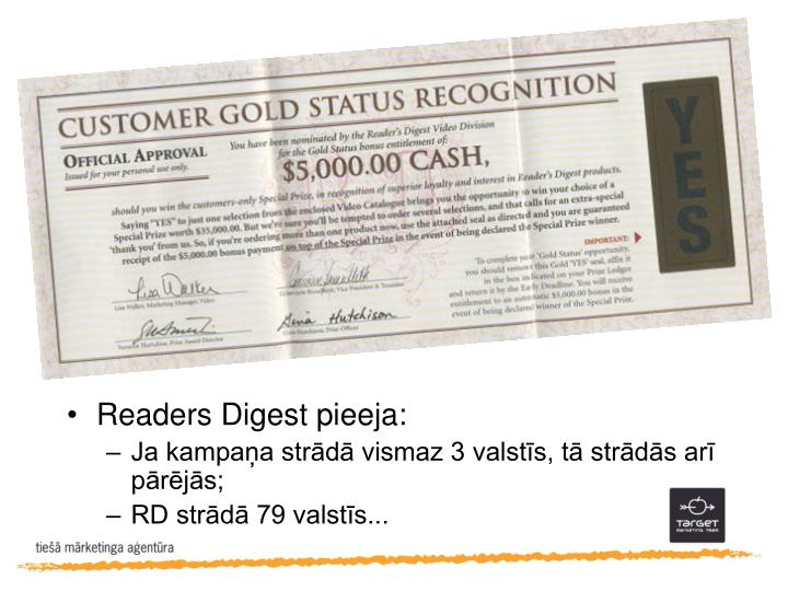 Readers Digest pieeja: