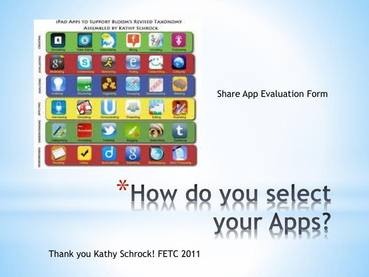 Share App Evaluation Form