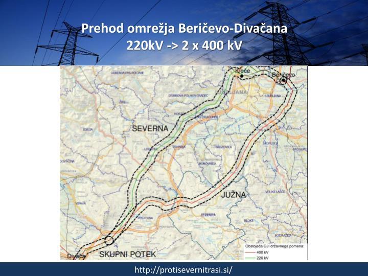Prehod omrežja Beričevo-Divačana