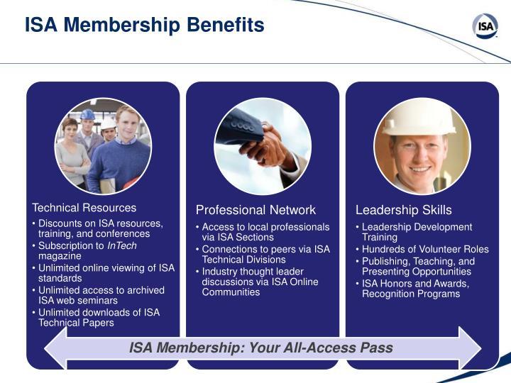 ISA Membership Benefits