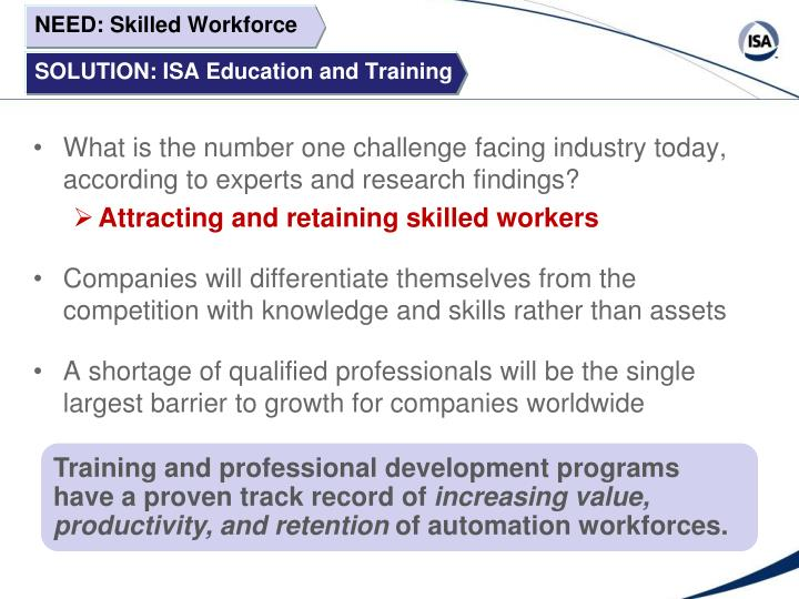 Training and professional development programs have a proven track record of