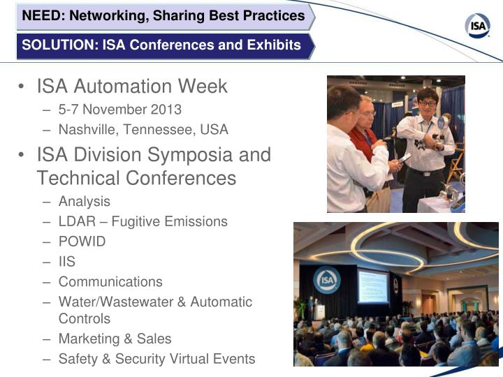 NEED: Networking, Sharing Best Practices