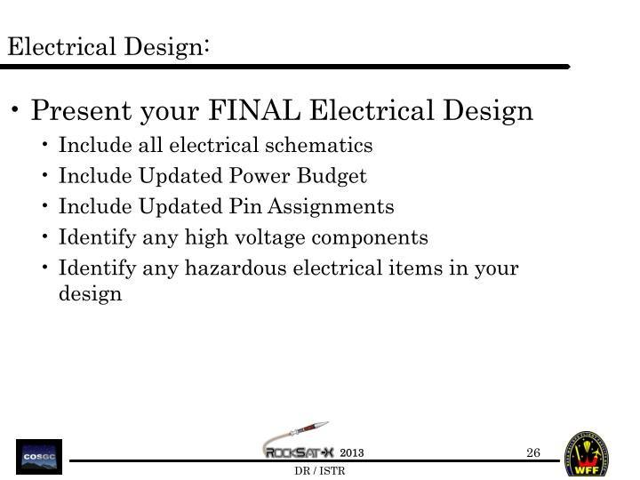 Electrical Design: