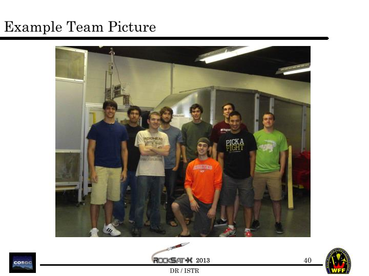 Example Team Picture