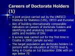 careers of doctorate holders 1