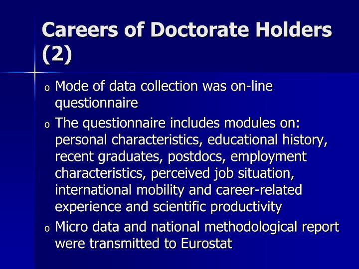 Careers of Doctorate Holders (2)
