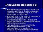 innovation statistics 1