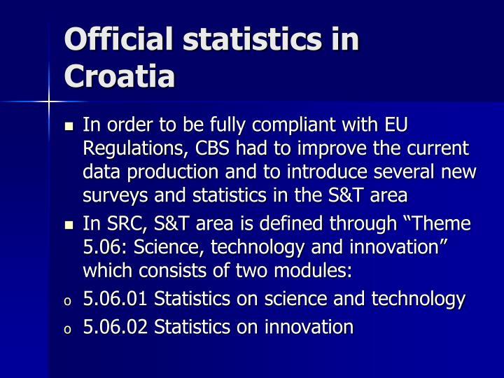 Official statistics in Croatia