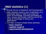 r d statistics 1
