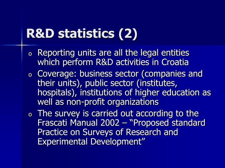 R&D statistics
