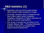r d statistics 2