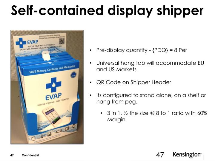 Self-contained display shipper