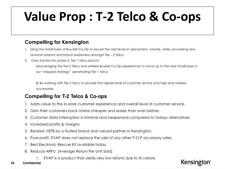 Value Prop : T-2 Telco & Co-ops
