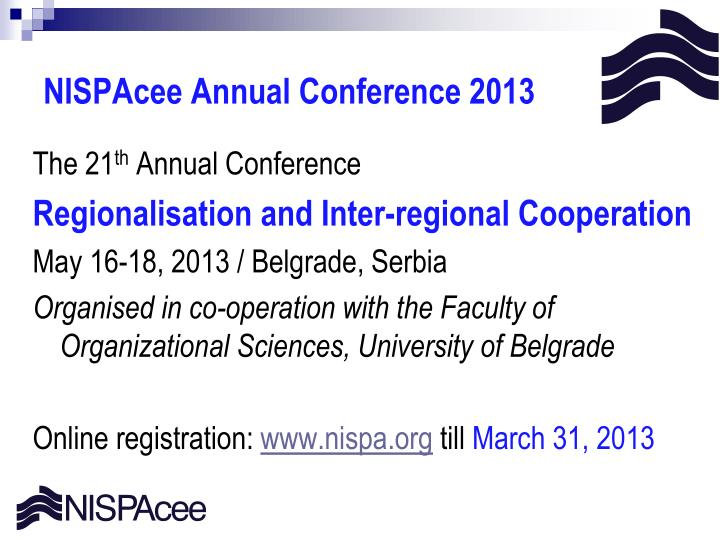 NISPAcee Annual Conference 201