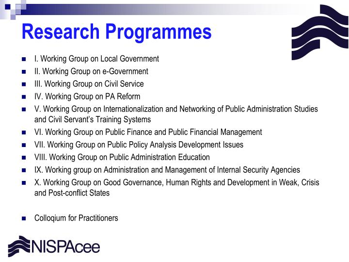 Research Programmes