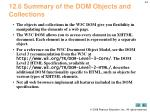 12 6 summary of the dom objects and collections