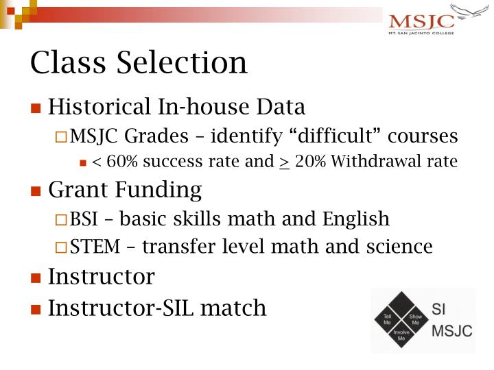 Class Selection