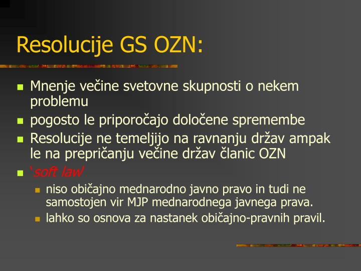 Resolucije GS OZN: