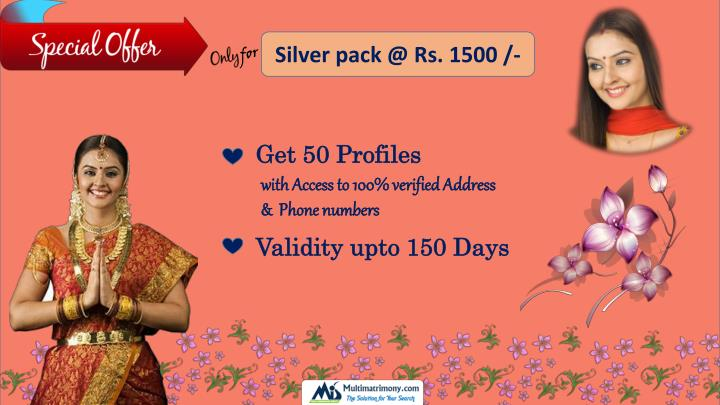 Silver pack @ Rs. 1500 /-