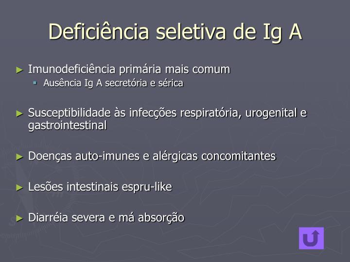 Deficiência seletiva de Ig A