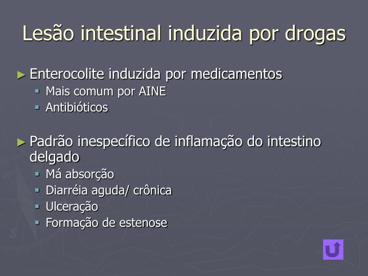 Lesão intestinal induzida por drogas