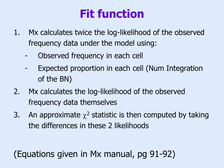 Fit function
