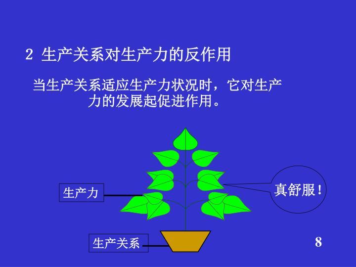 2 生产关系对生产力的反作用