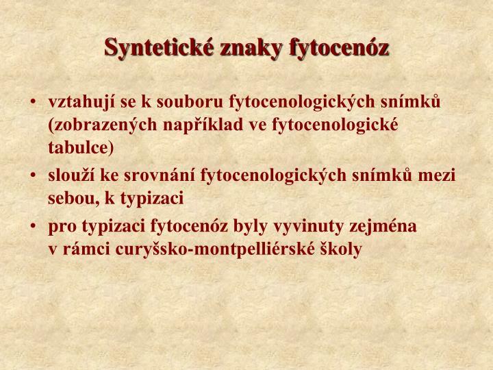 Syntetické znaky fytocenóz