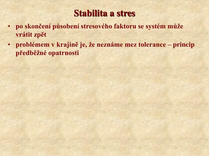 Stabilita a stres