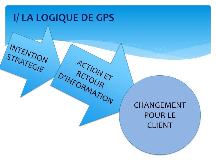 I/ LA LOGIQUE DE GPS