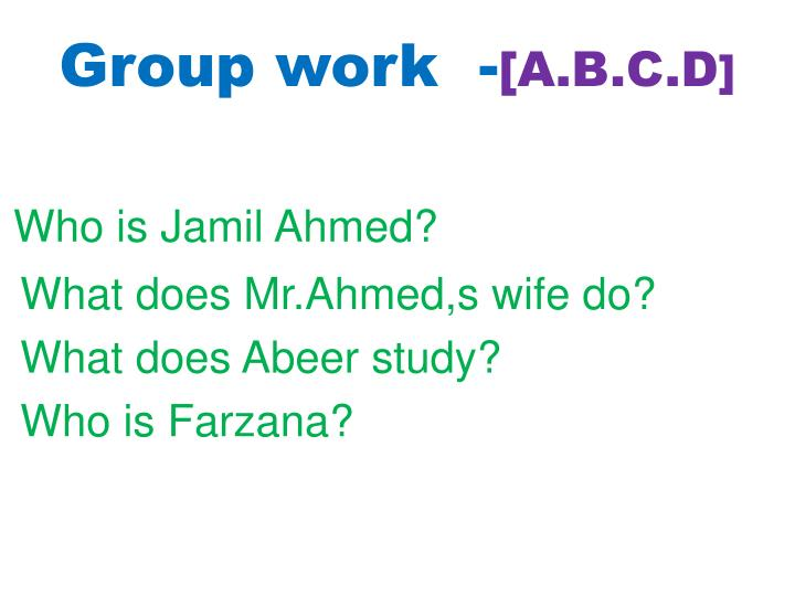 Group work  -