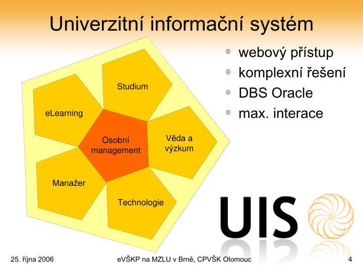 Univerzitní informační systém