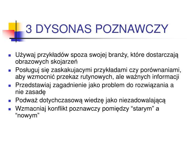 3 DYSONAS POZNAWCZY
